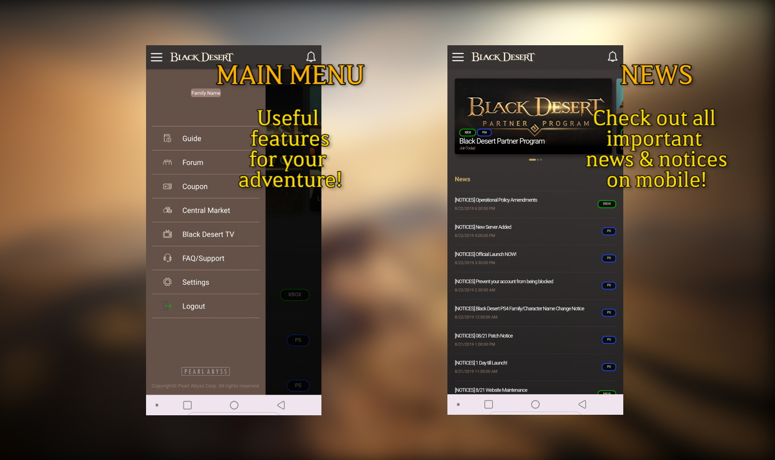 Black Desert : Available Now   PA Official Site   News