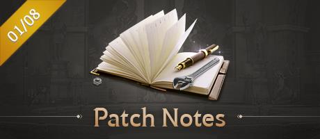 [Updated] 01/08 Patch Notes